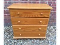 Solid pine chest of drawers. By Julian Bowen..D