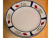 Adams LANCASTER English Ironstone 10 inch Dinner Plates.