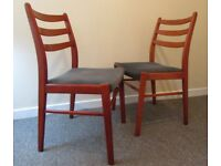 2 dining chairs G plan style retro bistro chairs wooden chairs FREE DELIVERY WITHIN LE3