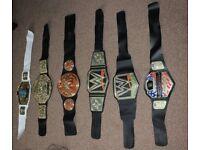WWE Wrestling Belts Bundle x 6 (like new)