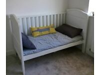 Mamas and Papas White Eastcoast Cot Bed - Like New