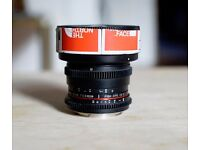 Samyang 8mm T3.8 UMC Fish Eye Fisheye CS II for Canon, Faulty