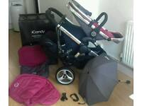 Icandy peach double stroller with carseat
