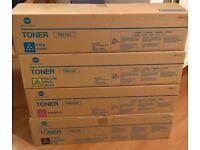Set of 4 Konica Minolta Toner Cartridges - Black TN210K, Cyan TN210C, Yellow TN210Y & Magenta TN210M