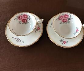 Royal Stafford 2 Tea cups and Saucers
