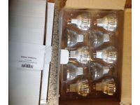 Job lot 30x MR16 6w LED Bulbs, 5x 12v New regs lamp holders & 3x Low Voltage Lighting Transformer