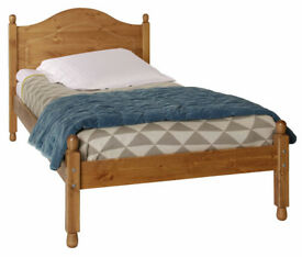 Single bed solid pine with brand new mattress
