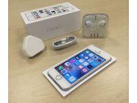 Silver Apple iPhone 5s 16GB Mobile Phone On Vodafone / Lebara / Talk Talk+ Warranty
