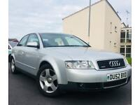 2002 AUDI A4 1.9 TDi QUATTRO*6 SPEED*VERY LOW MILES*FULL BLACK LEATHERS*RARE CAR*STAMPED HISTORY*