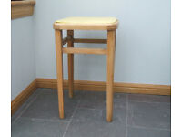 Vintage Yellow top Beech stool