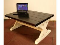 New Large Handmade Wooden Farmhouse Coffee Table 116cm x 73cm x 50cm Free Delivery Nottingham