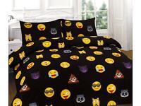 Emoji Duvet Cover Set and Curtains