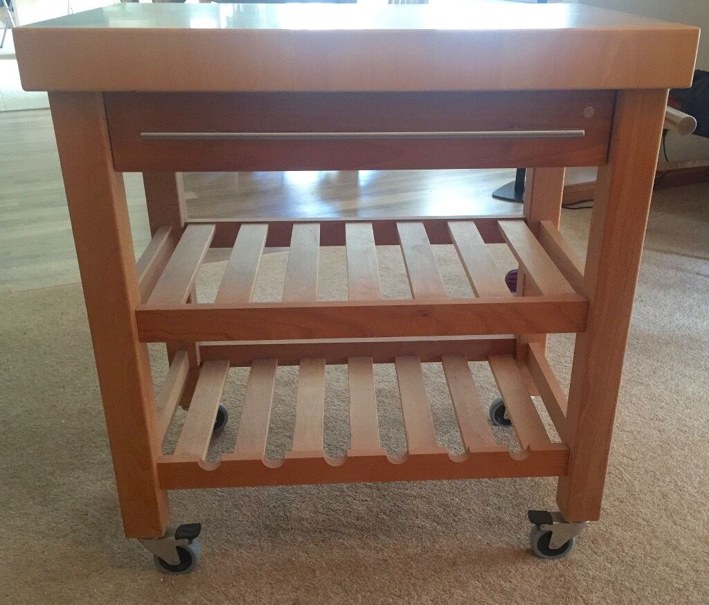 butchers block kitchen trolley wine rack drinks trolley