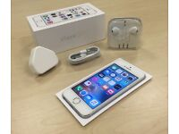 Boxed Silver Apple iPhone 5S 32GB Factory Unlocked Mobile Phone + Warranty