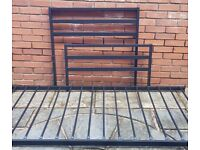 single-size black metal bed frame. very good condition.