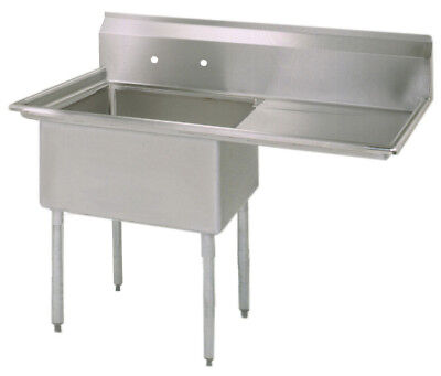 Bk Resources Bks-1-18-12-18r Commercial Stainless Steel 1-compartment Sink Rdb