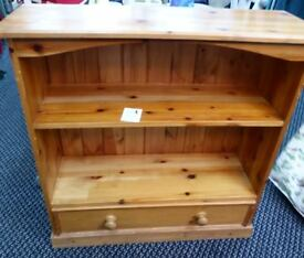 PINE BOOK SHELVES with a drawer