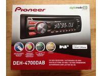 Pioneer DEH-4700DAB CD RDS Receiver Digital Car Stereo