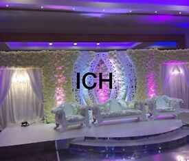 Wedding deco packages from £1800 wedding stages flowerwall centrepieces chiavari chairs