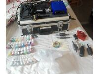 Professional tattoo kit with accessories good condition