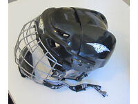 Mission Intake ice hockey helmet (barely used) with face cage, small/medium