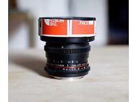 Samyang 8mm T3.8 UMC Fish Eye Fisheye CS II for Canon, Faulty