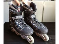Quality Roller Blades (Size 8.5 UK) and Pads