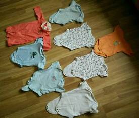 3 to 6 months baby vests mostly from F&F