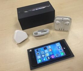 Boxed Black Apple iPhone 5 16GB On ee / orange / t - mobile Mobile Phone + Warranty