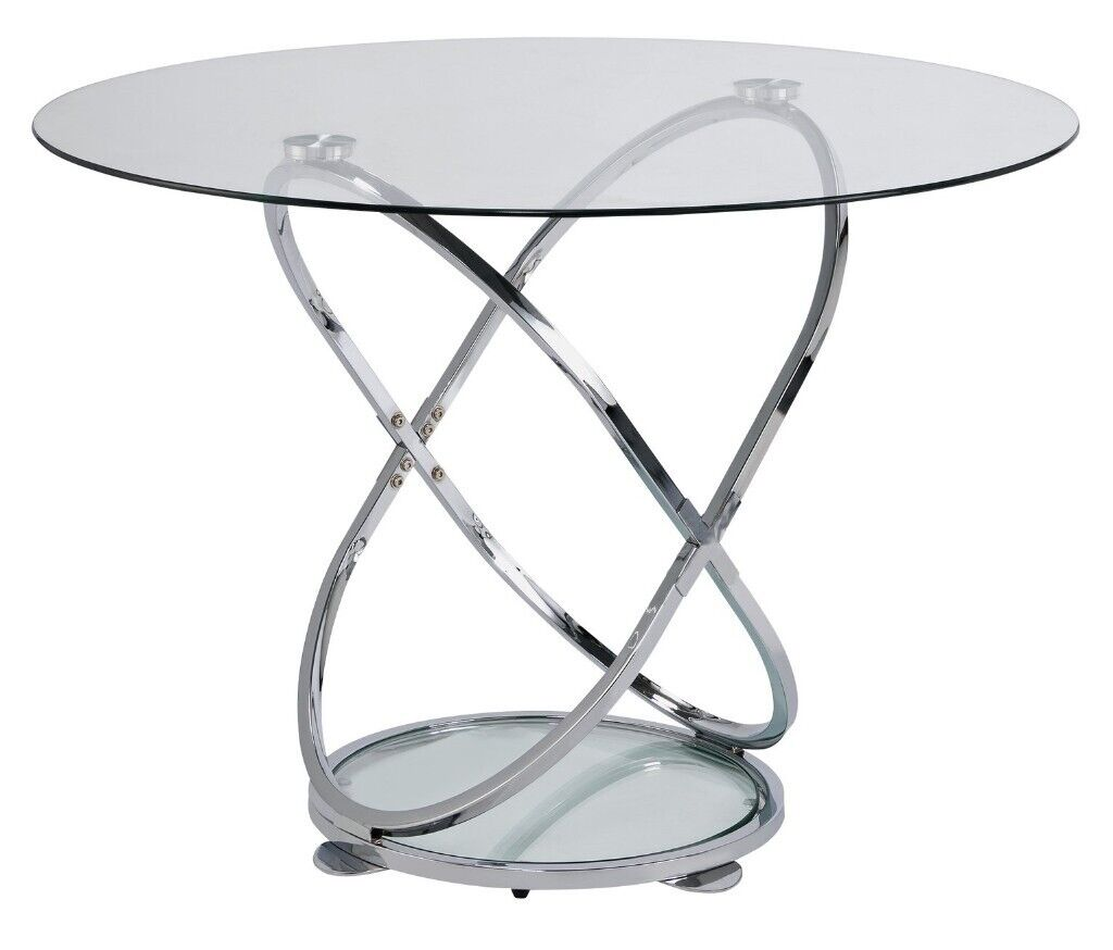 Ex Display Argos Home Atom Round Glass 4 Seater Dining Table In Bradford West Yorkshire Gumtree