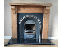 Oak Fireplace and insert for sale