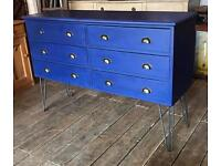 Upcycled Chest Of Drawers On Hair Pin Legs