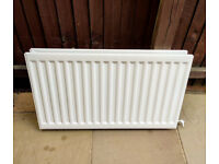 Double Panel, Double Fin Type 22 Radiator with TRV & Gate Valve