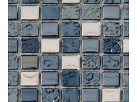 Torino Glass Mosaic bathroom tiles - 2 new sheets plus extra off cuts