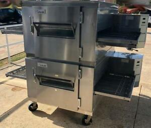 Double stacked Lincoln Impinger Converyor Pizza Ovens - Rare Item