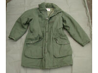 Swedish Army Issue M90 ECWS Cold Weather Parka - ideal for bushcraft or shooting