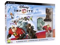 Disney Infinity Starter 1.0 Pack PS3 Jack Sparrow Sully and Mr Incredible VERY GOOD CONDITION