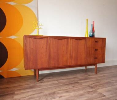 Stunning Danish 1960s Teak Sideboard, Retro TV Cabinet Buffet