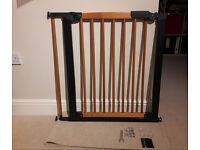 BabyDan Avantgarde True Pressure Fit Safety Gate (Cherry/Black) & 13cm extension