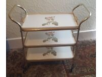 3 tier wheeled tea or drinks trolley - Immaculate Condition