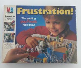 Vintage FRUSTRATION Board Game from MB Games - In Original Box - 1986 Edition