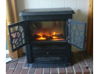 Glen electric fire woodburner stove