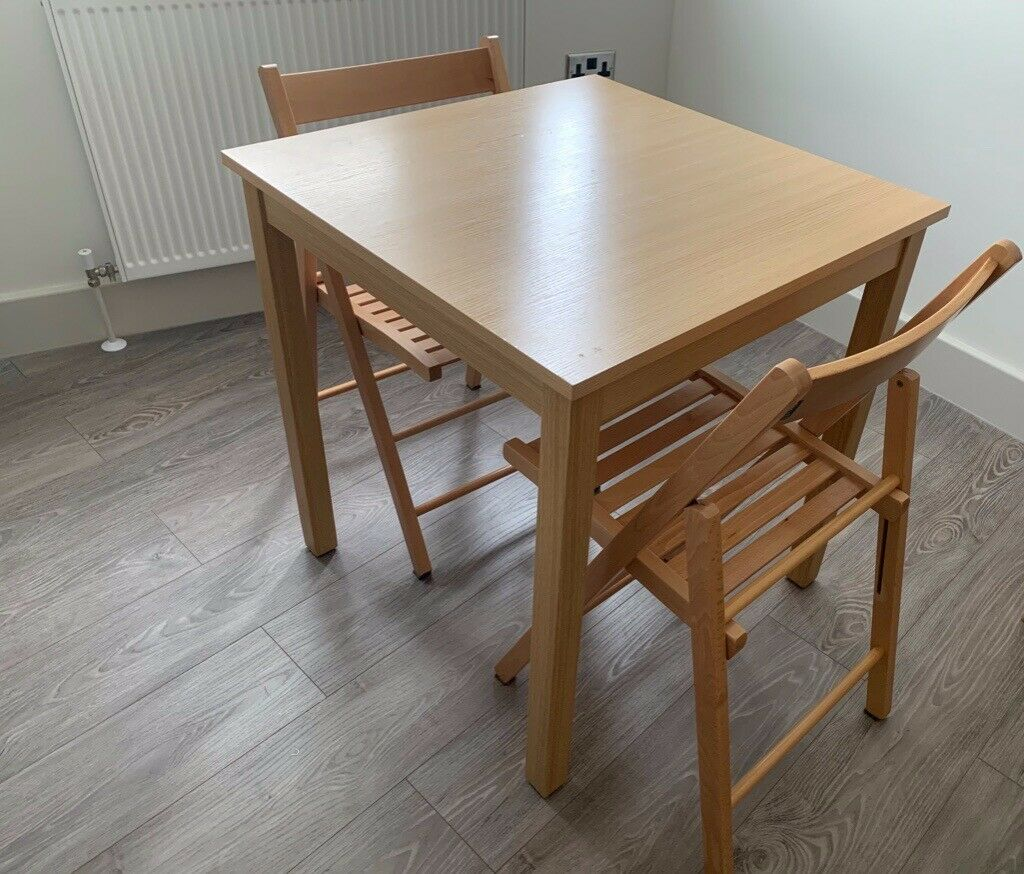Brilliant Dining Table 4 Folding Chair Set House John Lewis Buiani Folding Beech Natural In Southwark London Gumtree Customarchery Wood Chair Design Ideas Customarcherynet