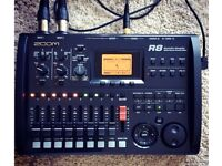 Zoom R8 Multitrack Recorder with Mic + Effects Midi Controller Audio Interface Drum Machine Sampler