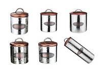 Copper Kitchen Ware pasta/biscuit barrell/bread bin/coffe