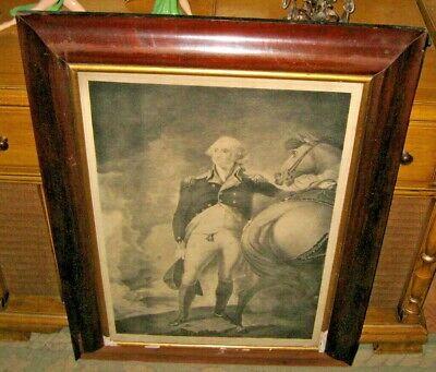 GILBERT STUART ANTIQUE GEORGE WASHINGTON STONE LITHO REVOLUTIONARY WAR MILITARY