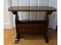 Old Charm Oak Magazine Rack / Coffee / Side Table Wood Bros