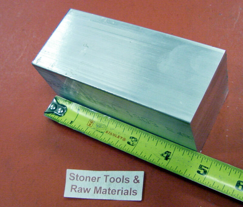 "2"" X 2"" ALUMINUM SQUARE 6061 FLAT BAR 4.5"" long T6511 SOLID New Mill Stock"
