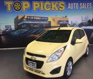 2013 Chevrolet Spark LT, HATCHBACK, ALLOY WHEELS, TWO TONE SEATS