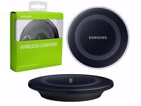 New Samsung Galaxy S6 S6+ S7 Edge QI Wireless Charger Charging Pad Plate Black